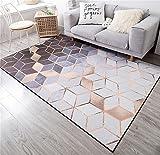 Europäischen Stil Geometrische Muster Metall Wind Hause Rechteckigen Teppich Wohnzimmer Couchtisch Schlafzimmer Bett Weiche Rutschfeste Bereich Teppich (Größe: 140 * 200 cm)