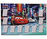Schreibtischunterlage Disney Cars Lightning McQueen / mit einmaleins Rechentafel - 50 cm * 36 cm - PVC Unterlage / Knetunterlage / Schreibunterlage / Tischunt..
