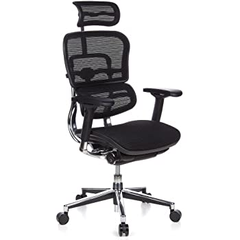 hjh Office 652111Ergohuman–chaise de bureau en maille Noir