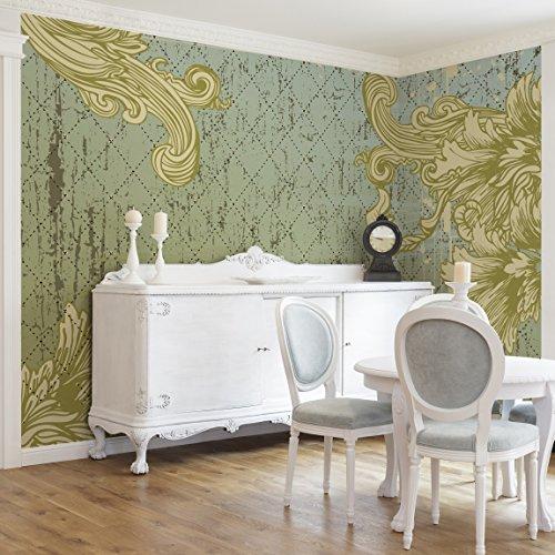 Apalis Vliestapete Floraler Barock Fototapete Breit | Vlies Tapete Wandtapete Wandbild Foto 3D...