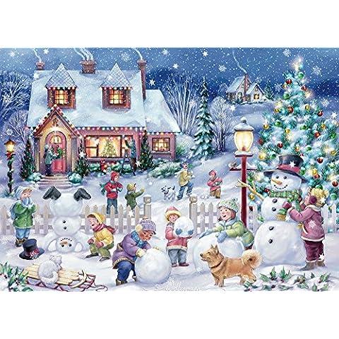 Pupazzo di neve celebrazione biglietti biglietti di Natale–Set di 15/16buste - Orgoglio Holiday Card