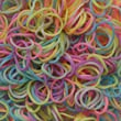 PASTEL COLOURS - 600 Premium High Quality Strong Assorted Colourful Rainbow Loom Bands Bandz Bracelet Making Toy