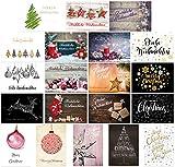 20 unterschiedliche Weihnachts-Postkarten im Set, Weihnachtskarten,...