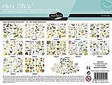 Maildor AE011O Packung mit 372 Stickers Mini Stick (ideal für Kinder ab 5 Jahren, 12 Blätter in Format DIN A5, 14,8 x 21 cm, bedrohte Tiere)