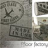 Moderner Teppich Air Mail grau 120x170 cm - topaktueller Flachgewebe Teppich für drinnen und draußen