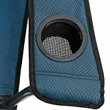Qeedo Johnny Camping-Stuhl XL bis 150 kg - blau -