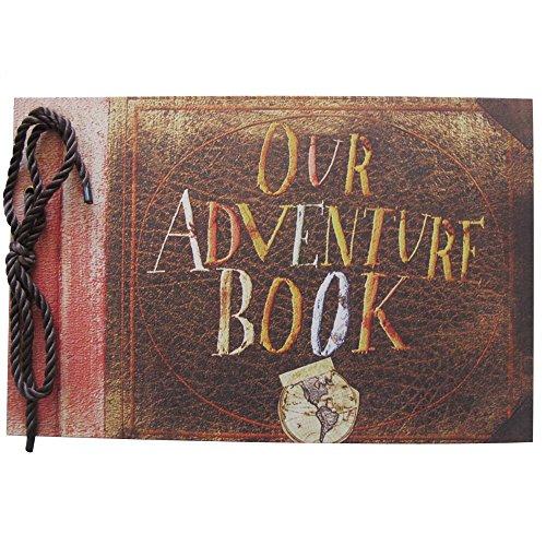 Álbum de fotos Our Adventure Book de la película Up de Pixar, hecho a mano, libro de invitados para boda de la marca Agent T
