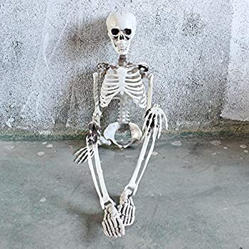 Terrible Game Supplies Hanging Decor Halloween Props Human Skeleton Skull Head F