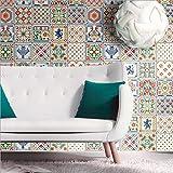 JY ART PVC Marokkanischer Stil Fliesen-Wandaufkleber Wasserdicht Ölbeweis Selbstklebend Fliesenaufkleber Moderne Hauptdekoration, 60 * 200CM