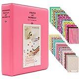Miniálbum de fotos con 120 fundas, de Ablus, para cámara instantánea Fujifilm Instax Mini 7s 8 8+ 9 25 26 50s 70 90 y tarjeta de visita, plástico, rosa, diseño de flamencos, 64 pockets