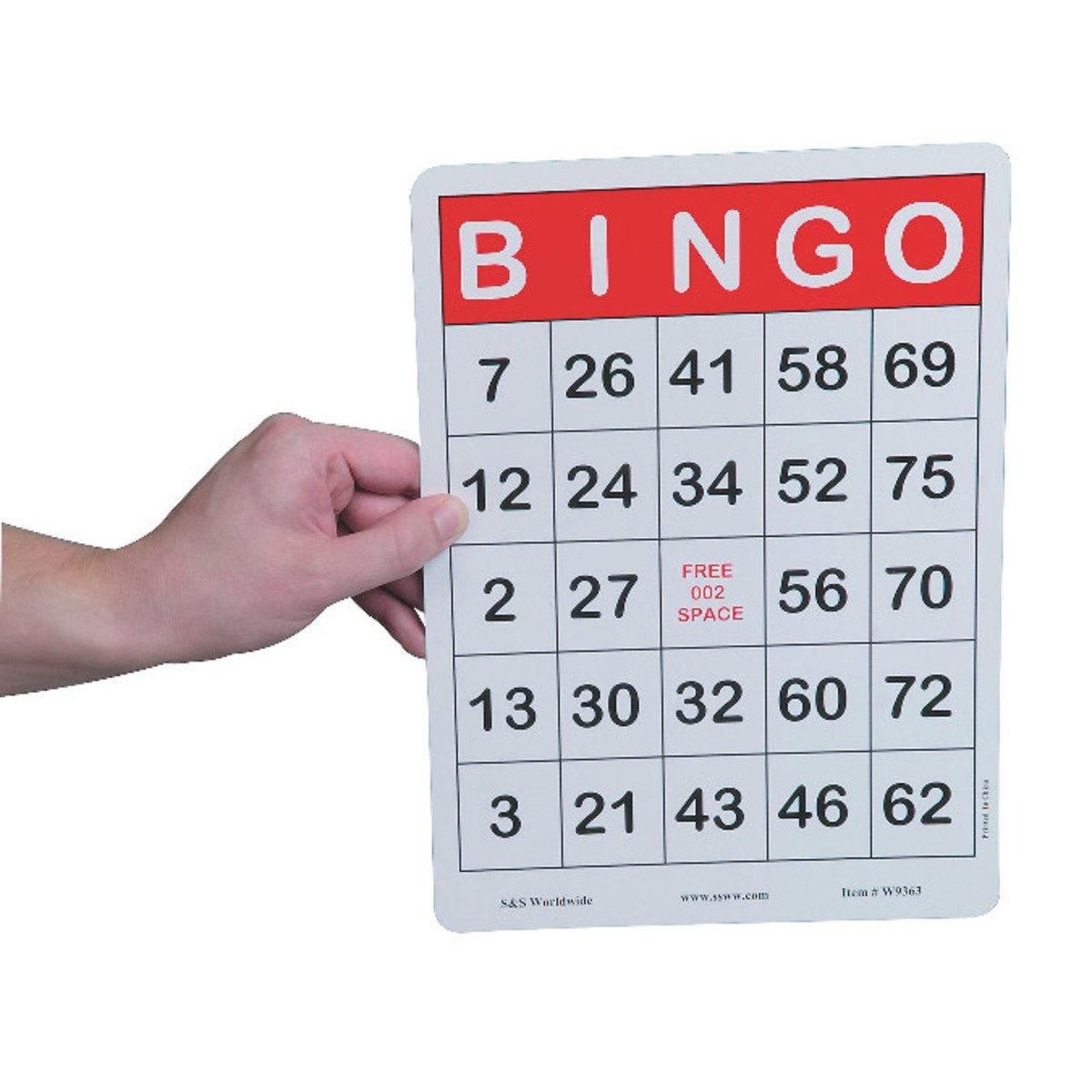 Jumbo Bingo Cards by S&S Worldwide