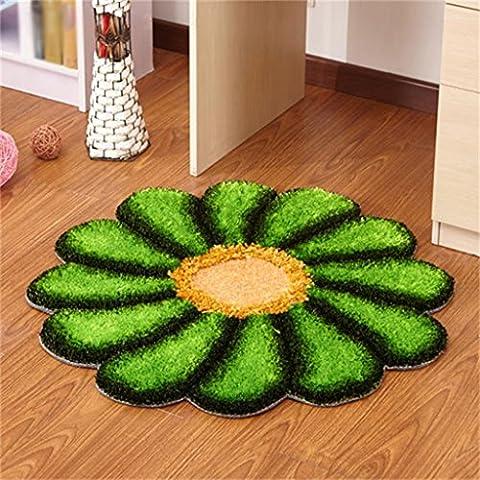 WENZHE Kontinental Runde Mats Schlafzimmer Salon Bettseite Staub-Pad Computer-Stuhl Teppich Durchmesser 90cm Bereich Teppich ( Farbe : G