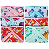 WonderKart Double Layer Cotton Cloth And Plastic Baby Nappy/Langot – (Pack Of 6) Print & Color May Vary