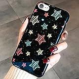 Kompatibel mit iPhone 6S Hülle,iPhone 6 Hülle,Glänzen Funkeln Glatter Überzug Liebes Herz Sterne Handyhülle TPU Silikon Hülle Tasche Silikon Crystal Case Schutzhülle für iPhone 6S/6,Schwarze Sterne