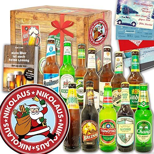 Nikolaus | Bier Geschenk | 12 Biersorten aus aller Welt und D