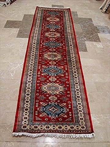 Rechteck Bereich Teppich Schirwan Kuba feine Kazak Veg gefärbt Wolle handgeknotet Läufer Teppich (9,9x 2,9) '