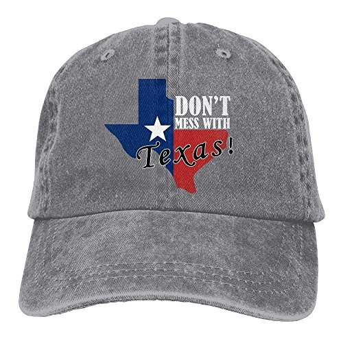 CHKWYN Dont Mess with Texas Adult Denim Fabric Hat for Boy Female Unisex,Boy's Female's Baseball Hat