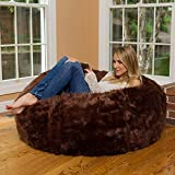bean bag brown fur without beans only cover - hot