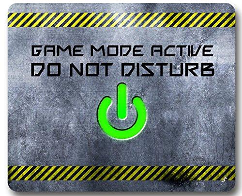 1art1 92844 Gaming - Game Mode Active, Do Not Disturb Mauspad 23 x 19 cm