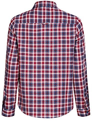 oodji Ultra Damen Karo-Hemd mit Taschen Rot (7445C)