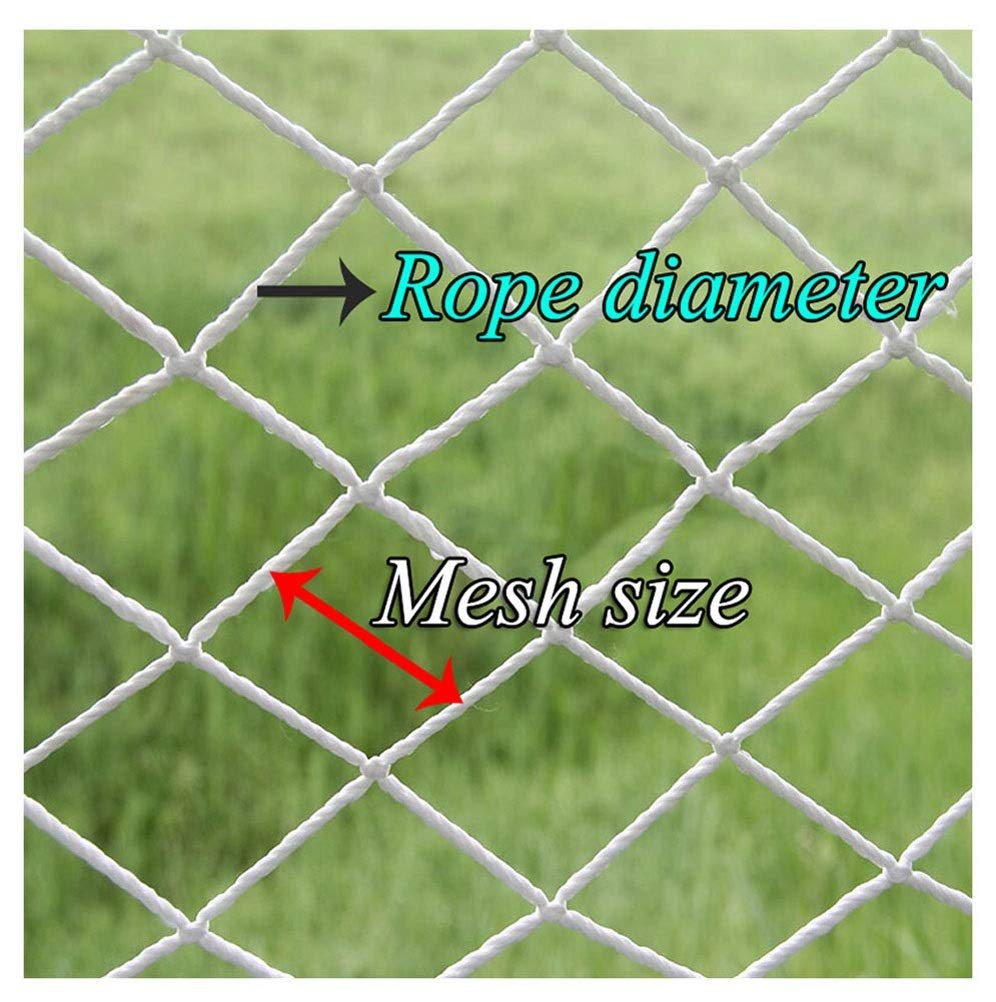 "Rope Net,Trellis Garden Netting Plant Climbing Decoration Fish Cargo Bird Mesh Child Safety Anti-fall Protective Folding Lattice Grid Replacement Goal Net,1*1m(3.3*3.3ft)-Larger Size,Customization XXN ❤The rope net has a diameter of 4 mm (5/32"") and a grid size of 3 cm (1.18""). The edge of the net is reinforced, the force is even, the pulling force is strong, anti-sun, anti-weathering, anti-rain. ❤The safety anti-fall net is suitable for balconies, stairs, construction sites, pets, children, trucks, gymnasiums, playgrounds, etc., to prevent objects from falling, and to ensure the safety of pets, children, etc. ❤Plant climbing growth net Strong support for pole green beans,peas,cucumbers,tomatoes,bitter melon,cukes,mini watermelons,cantaloupes,blackberry,herbs,using the plant trellis netting to avoid a ground contact, making them less prone to disease. 1"