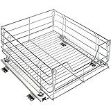WENKO Sistema deslizante para alacena , Acero, 51 x 18.5 x 40 cm, Cromo