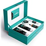 mCaffeine Coffee Look Gift Set | Facial Kit with Face Wash, Scrub, Mask, Serum & Under Eye Cream for a Pampering Skin Day | F