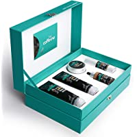 mCaffeine Coffee Look Gift Set | Facial Kit with Face Wash, Scrub, Mask, Serum & Under Eye Cream for a Pampering Skin…