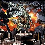 Personnalisé 3d mural personnalisé 3D stéréo dessin animé dinosaure papier peint murale KTV bar enfants chambre parc papier peint murale_350X250CM