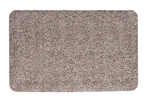 andiamo 700610 Schmutzfangmatte Samson / Waschbarer Fußabtreter aus Baumwolle in Granit für den Innenbereich / 1 x Fußmatte (60 x 100 cm)