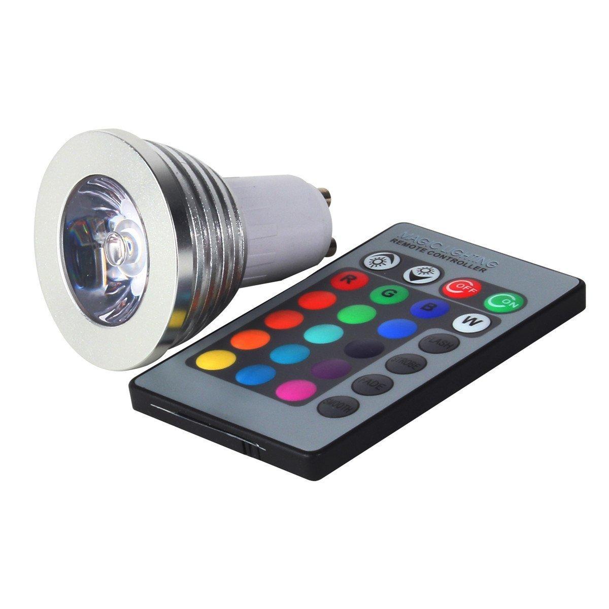 Gu10 multi color led light bulb with remote control gu10 rgb gu10 multi color led light bulb with remote control gu10 rgb amazon kitchen home parisarafo Image collections
