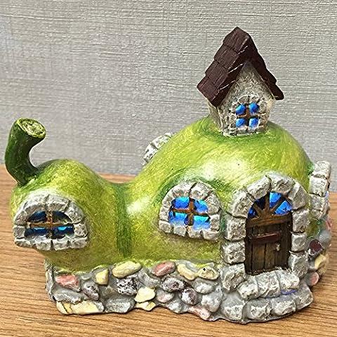 Magical Pear Stone House Garden Indoor LED Licht Decor–batteriebetrieben Elfe Fairy Pixie Home 10cm)