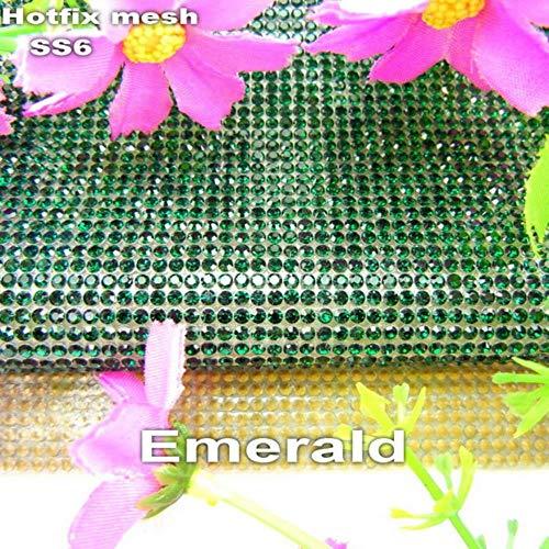 PENVEAT Shinning SS6 2mm Vollglasrhinestones Eisen auf Kleber auf Applikationen Banding Mesh-Blatt Brautkleider Schuhe trimmen, Smaragd