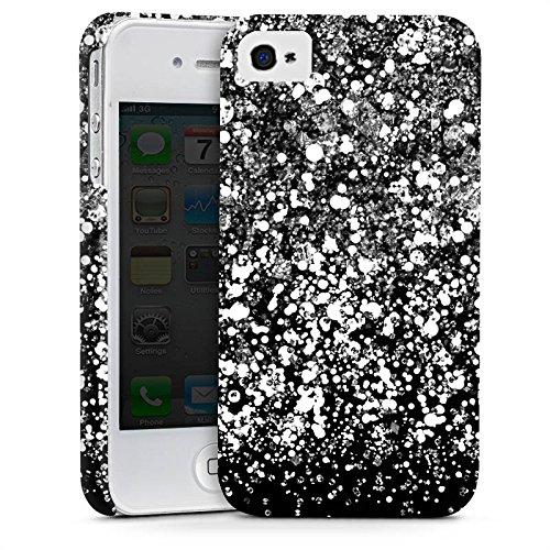 Apple iPhone X Silikon Hülle Case Schutzhülle Glitzer Look Schnee Pattern Premium Case glänzend