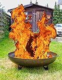 Feuer-Schale Stahl schwarz 50cm Grill-Feuer Feuer-Korb Feuer-Stelle Garten-Kamin Pflanz-Schale Terrassen-Ofen