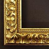 Cornice MEDICI I Florentina oro, decorato, antico 4,8 - quadro vuoto senza vetro - 9 x 13 cm - vera - cornice in legno