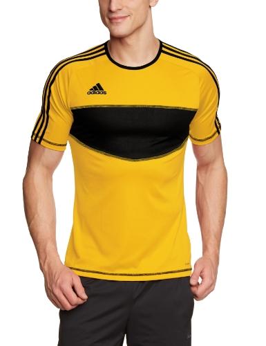 adidas, Uomo Maglietta a maniche corte training Entra 12, Giallo (sunshine/black), XL