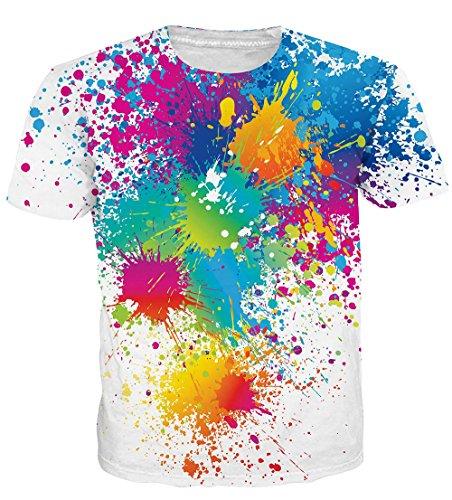 NEWISTAR Unisex 3D Druckten Sommer-Beiläufige Kurze Hülsen-T-Shirts T-Stücke Sand1