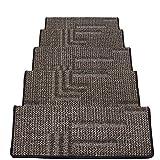 JIAJUAN-Treppenmatte Teppich Treppen Dick Treppe Tritt Auf Gummi Sichern Rutschfest Waschbar Schritt Matte, 7 Farben, 5 Größen Anpassen (Farbe : G-5 pcs, größe : 65x24x3cm)