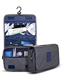 Hanging Toiletry Bag-Portable Travel Organizer Cosmetic Make Up Bag Case For Women Men Shaving Kit With Hanging...