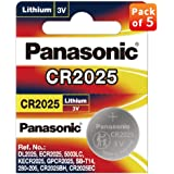 Panasonic CR-2025/5BE Lithium Coin Battery - Pack of 5