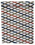 Linum Tischläufer bunt gestreift 45x150 cm aus Baumwolle (Mikado)