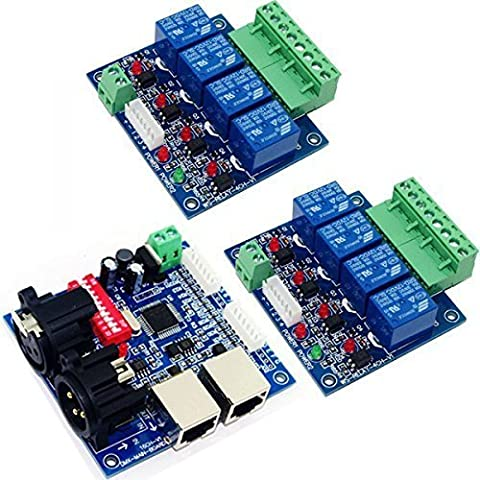 4 Channel Relay Switch DMX512 Controller Relay
