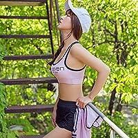 WANYHHA Gather Brassiere High Support Sports Underwear Running Shock Absorption Yoga Fitness Vest Ladies Running Sports,Lavender,XL
