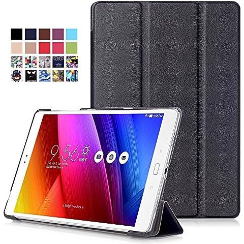 ASUS ZenPad 3S 10 Z500M Cover - Custodia Ultra Sottile e Leggero con Coperture da Supporto e Funzione Auto Sveglia / Sonno per Asus ZenPad 3S 10 Z500M 9,7 Pollici Tablet, Nero