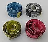 H162 4x Maßband 150cm in einer Kunststoffbox verschiedene Farben