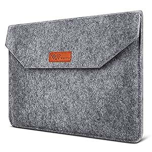 SAVFY Laptophülle 13.3 Zoll Laptop Sleeve Macbook Air Tasche Laptop Tasche iPad Pro Sleeve Case Cover für MacBook Air, MacBook Pro Retina Display, dunkelgrau