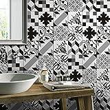 Moginp Wandsticker,Wandtattoo 1Roll Selbstklebende Fliese Decal Tapete Wand Aufkleber DIY Küche Badezimmer Dekor (b)