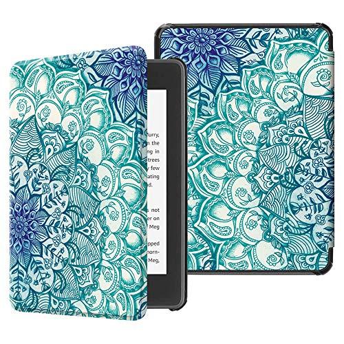 Fintie Hülle für Kindle Paperwhite (10. Generation – 2018) - Die dünnste und leichteste Schutzhülle Tasche mit Auto Sleep/Wake Funktion für Amazon Kindle Paperwhite eReader, Smaragdblau