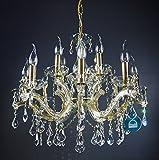KRONLEUCHTER KRISTALL Lüster 12Leuchten Ø60cm GOLD SPECTRA® Crystal Swarovski UVP799€